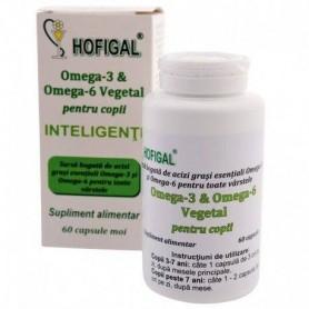 Omega 3 & Omega 6 - pentru copii inteligenti 60 capsule