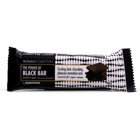 Baton ciocolata neagra 40g - Woman Collection Black bar -GOLDNUTRITION