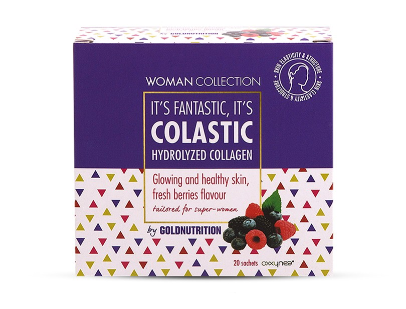 Colagen Hidrolizat Fructe de padure 20 doze - Woman Collection Colastic - GOLDNUTRITION