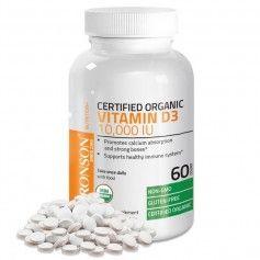 Vitamina D3 10.000 UI 60 capsule gelatinoase ( certificata organic )