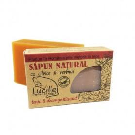 Sapun natural cu citrice si verbina - tonic si decongestionant, Lucille, 90 g