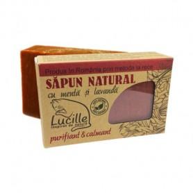Sapun natural cu menta si lavanda - purifiant si calmant, Lucille, 90 g