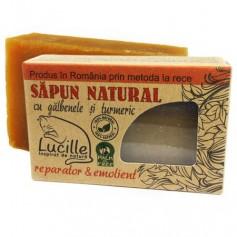 Sapun natural cu galbenele si turmeric - reparator si emolient, Lucille, 90 g