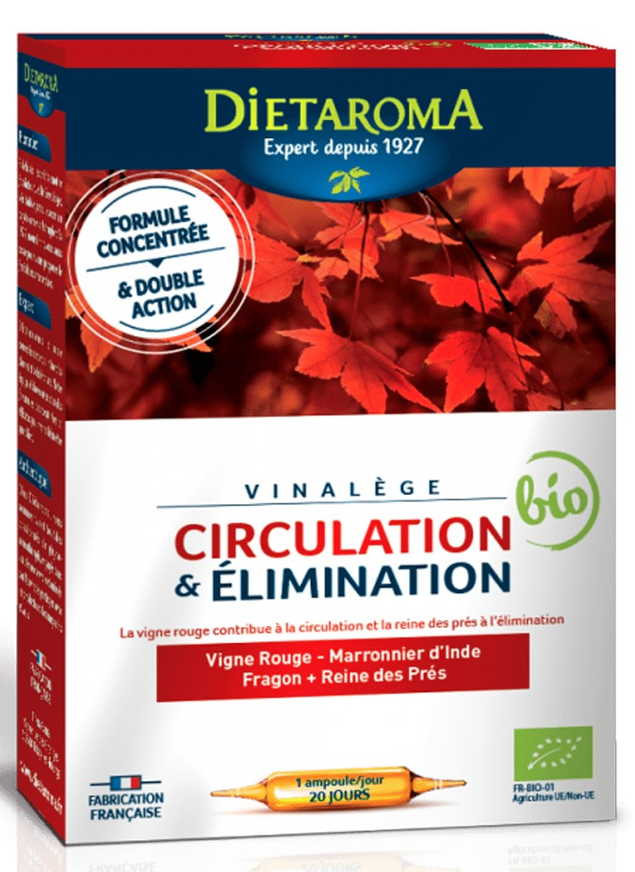 circulation & elimination ( circulatie sanatoasa ) 20 fiole x 10ml diet aroma
