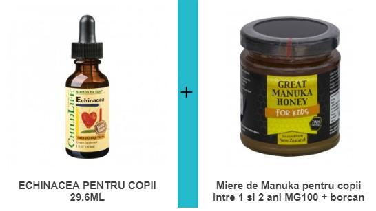 echinacea (copii) + miere de manuka pentru copii