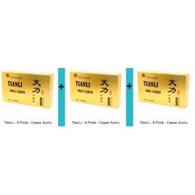 Tianli 6 fiole capac auriu - pachet 3 bucati