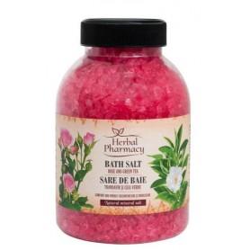 Sare de baie cu trandafir muscat si ceai verde 1.2 kg