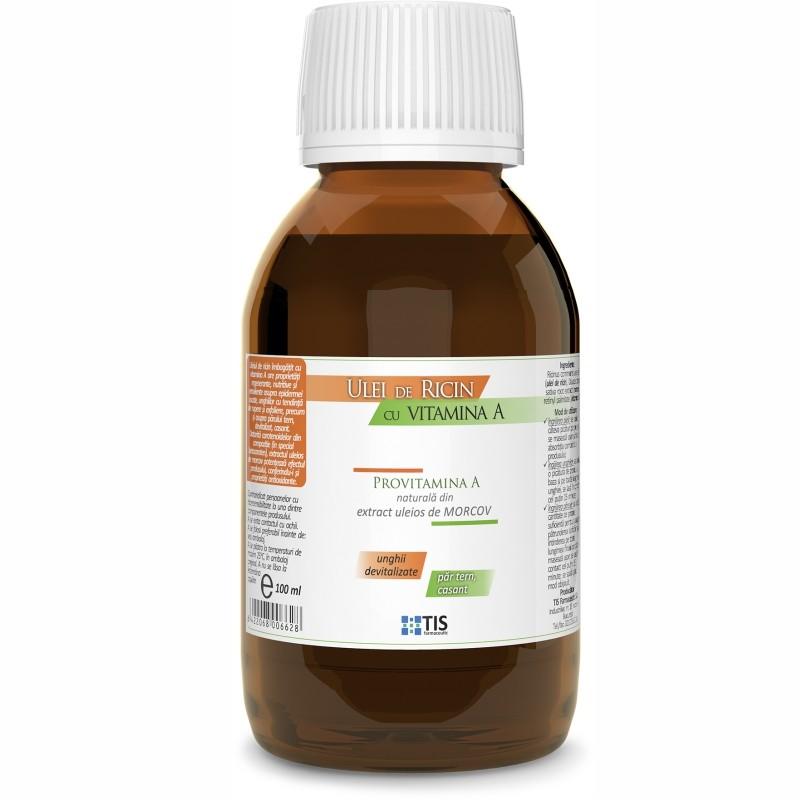 Ulei de Ricin, cu Vitamina A, 100ml