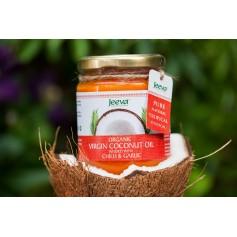 Ulei ce Cocos Organic Virgin cu Chillie si Usturoi 200ml Jeeva