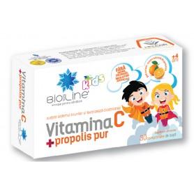 Vitamina C + Propolis Pur pentru copii 30 cpr