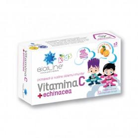 Vitamina C + Echinacea pentru copii 30 cpr