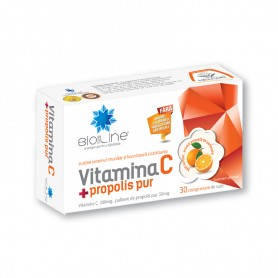 Vitamina C, Propolis, 30 cpr