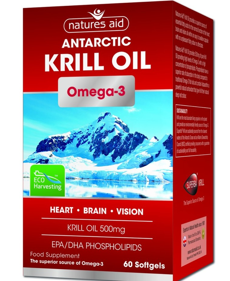 krill oil 500 mg 60 cps natures aid