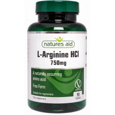 L-Arginina Natures Aid 750 mg 90 comprimate