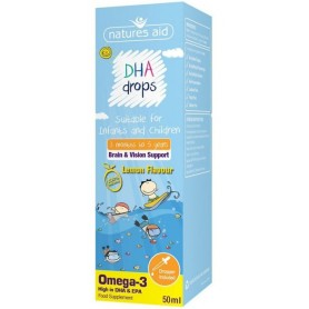 DHA picaturi copii (500 mg-OMEGA 3 din care 350mg DHA) 50 ml Natures Aid