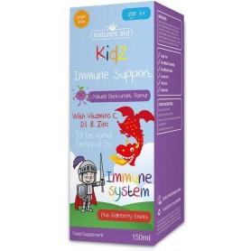 Kidz Immune Support cu vitamina C, D3 si zinc, 150 ml Natures Aid