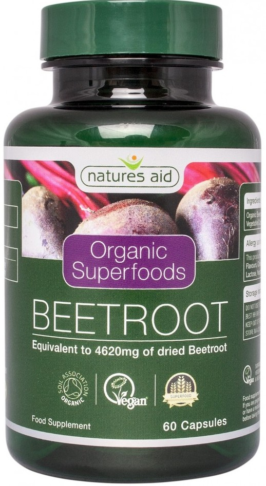 organic beetroot extract 60 cps natures aid