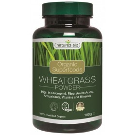 Organic Wheatgrass Powder ( Iarba de grau ) 100 g Natures Aid