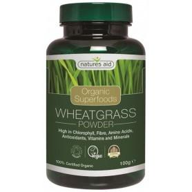Organic Wheatgrass Powder ( Iarba de grau ) 100 g Natures Aid