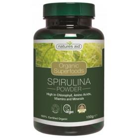 Organic Spirulina Powder 150 g Natures Aid