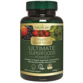 Ultimate Superfoods (31 superalimente si enzime organice) pudra, 150 g Natures Aid