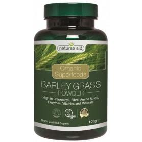 Organic Barley Grass Powder 100 g Natures Aid