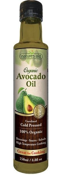 Ulei organic de avocado 250 ml Natures Aid