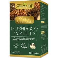 Organic Mushroom Complex, 60 capsule Natures Aid