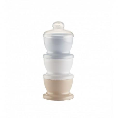 Recipient 3 compartimente lapte praf/ mancarica- Baby Blue