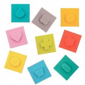 Ludi Set 9 Cuburi- Primul Joc De Construit Al Bebelusului