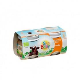 SunBaby Piure Bio din carne de vitel 2x 80 gr