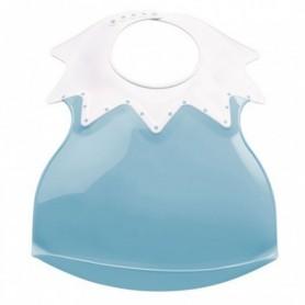 Baveta bebe ultra-soft ARLEQUIN Thermobaby, Myosotis blue