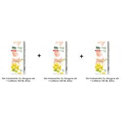 Pachet 3X Gel Anticelulitic Cu Strugure alb + Caffeine 180 ML Bilka