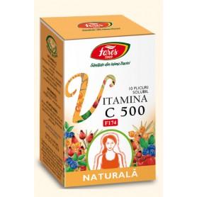 Vitamina C 500 naturală 10 plicuri solubil