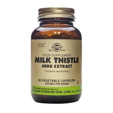 milk thistle herb extract vegetal 60 capsule solgar