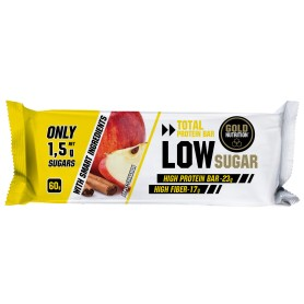 PROTEIN BAR LOW SUGAR, MERE SI SCORTISOARA, 60gr - GOLDNUTRITION