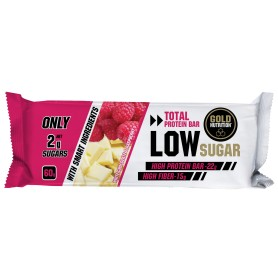 PROTEIN BAR LOW SUGAR CIOCOLATA ALBA SI ZMEURA, 60gr - GOLDNUTRITION