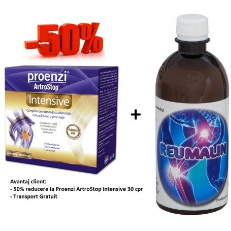 Proenzi ArtroStop Intensive - 30 cpr + Reumalin 500 ML (calmeaza durerile)
