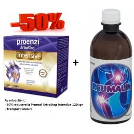 Proenzi ArtroStop Intensive - 120 cpr + Reumalin 500 ML (calmeaza durerile)