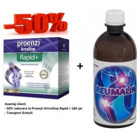 Proenzi ArtroStop Rapid+ 180 cpr + Reumalin 500 ML (calmeaza durerile)