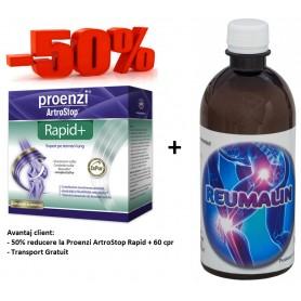 Proenzi ArtroStop Rapid+ 60 cpr + Reumalin 500 ML (calmeaza durerile)