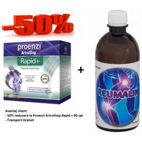 Proenzi ArtroStop Rapid+ 90 cpr + Reumalin 500 ML (calmeaza durerile)
