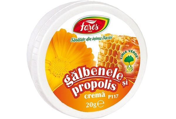 GALBENELE SI PROPOLIS, crema, 20 gr