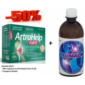 Artrohelp Forte 14 DZ + Reumalin 500 ML (calmeaza durerile)