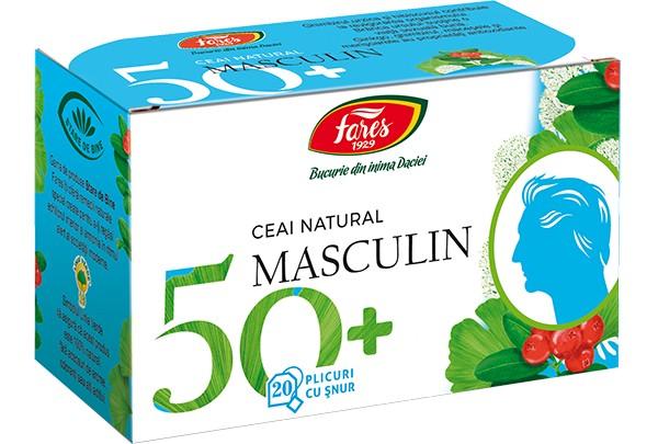 masculin 50+, 20 pliculete cu snur