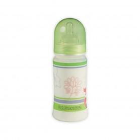 Biberon PP décor fara BPA 300 ml(cu gat larg si tetine sistem anticolici)