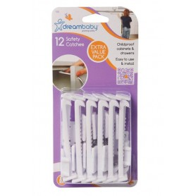 Dreambaby-Protectii sertare si usi dulapuri setx12