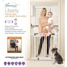 Dreambaby Liberty-Poarta de siguranta metalica alb 75-84cm