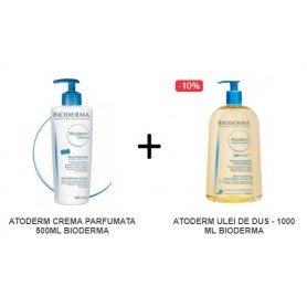 Atoderm Crema Parfumata 500ML + Atoderm Ulei De Dus - 1000ML Bioderma