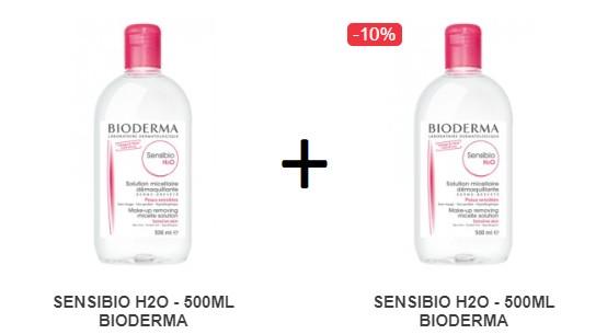 Pachet 2X Sensibio H2O Bioderma - 500 ML